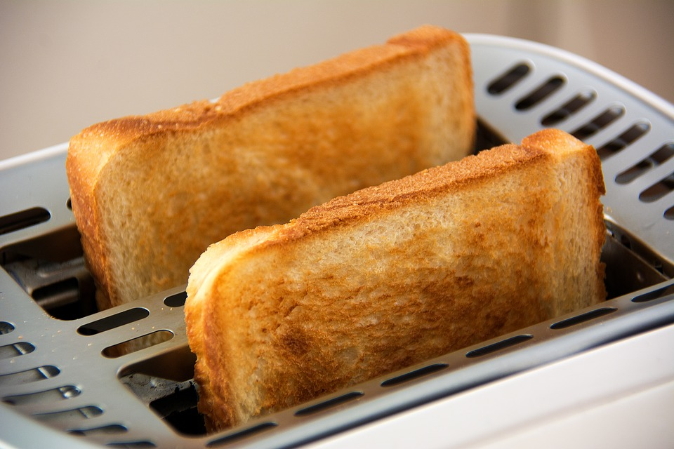 Toast, Toaster, Food, White