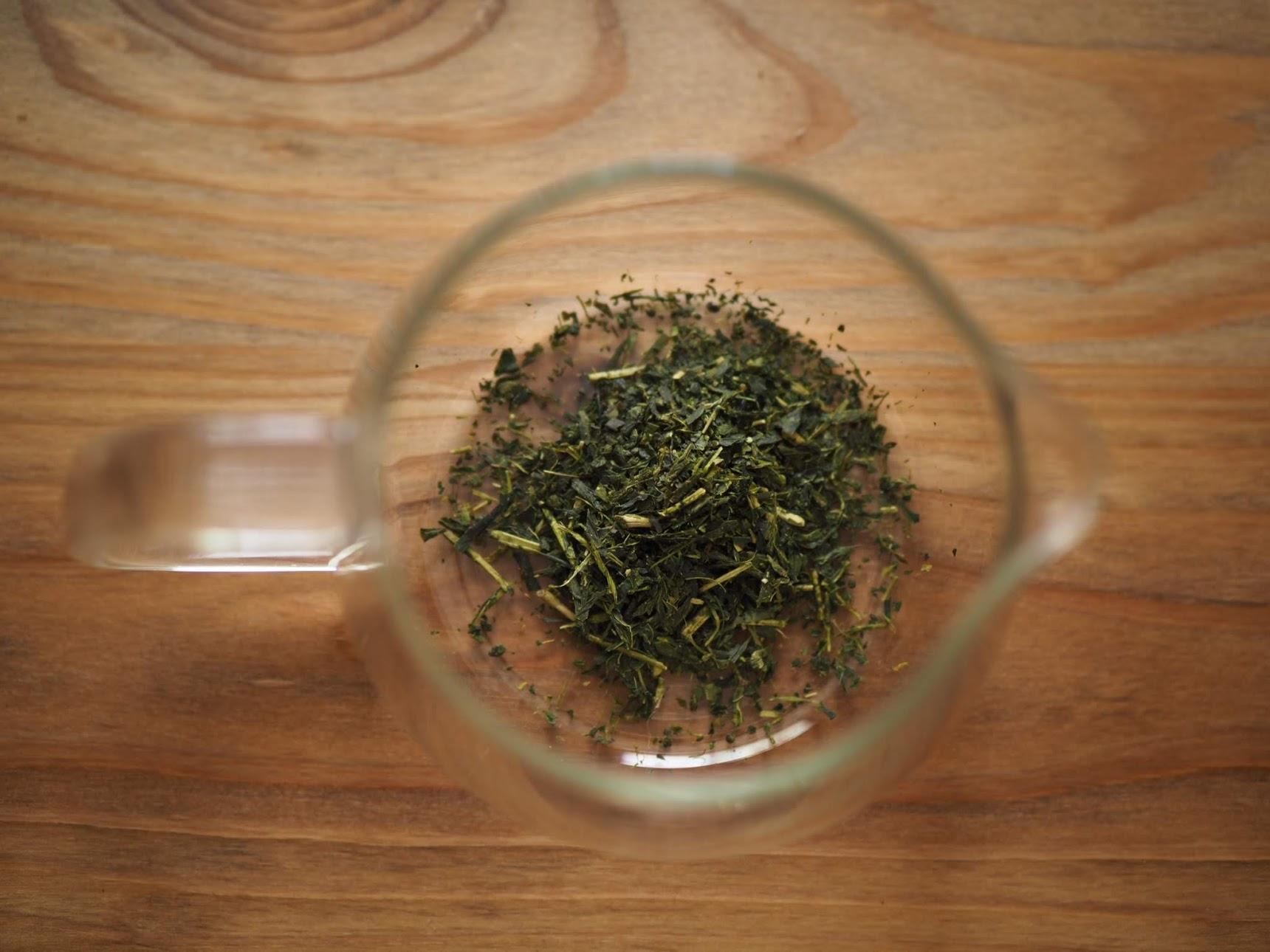茶葉をサーバーに入れる