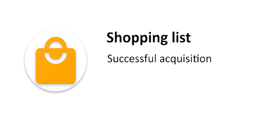 Free shopping list, allows you to create a grocery cart without ads