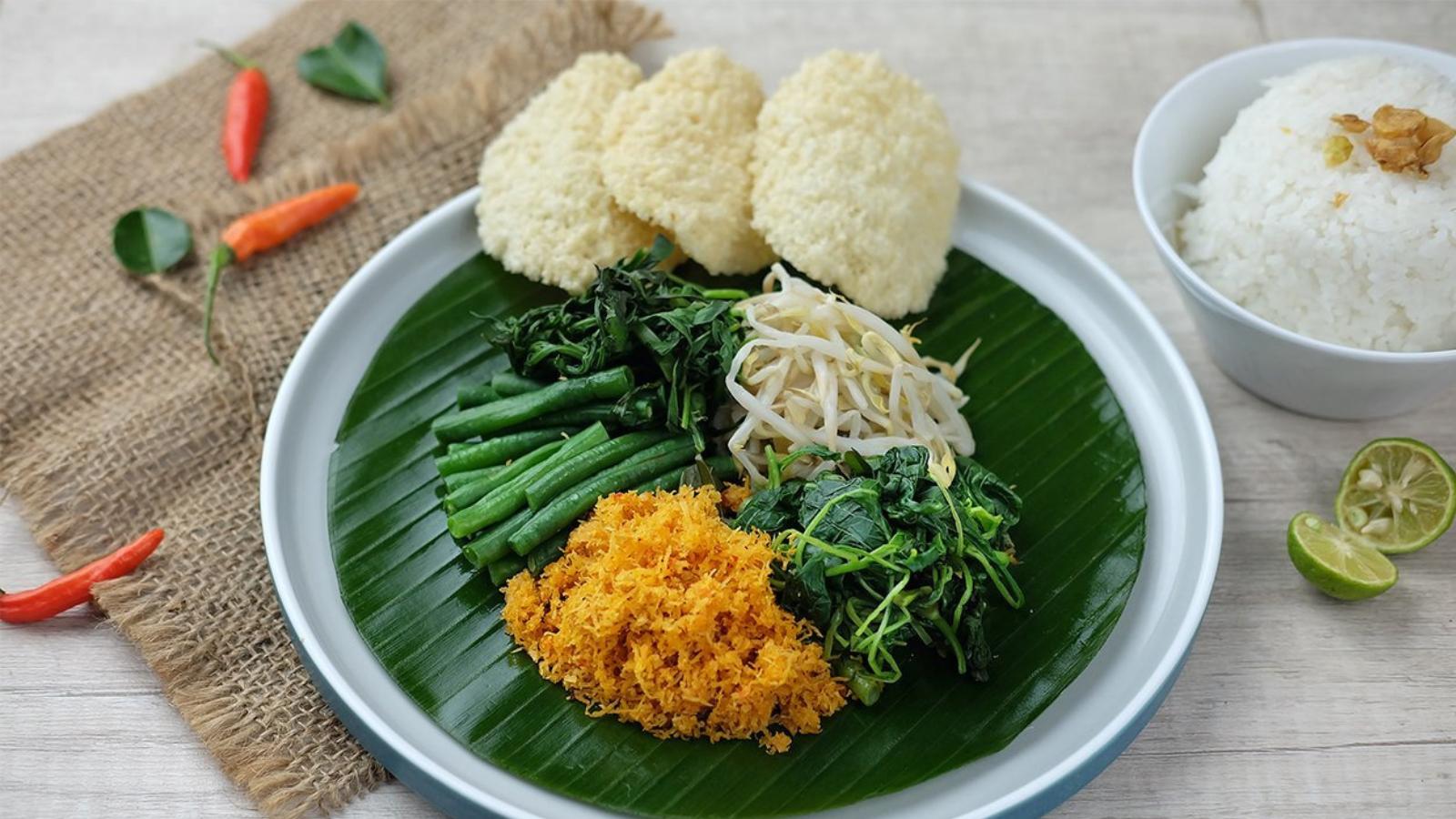 Rau Urap Urap – món rau của vùng nhiệt đới
