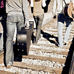 Band of Misfits or Jeans Ad? by Cody Miller - People Musicians & Entertainers ( canon, band, train, 1.2l, guitar, tracks, case, 50 )