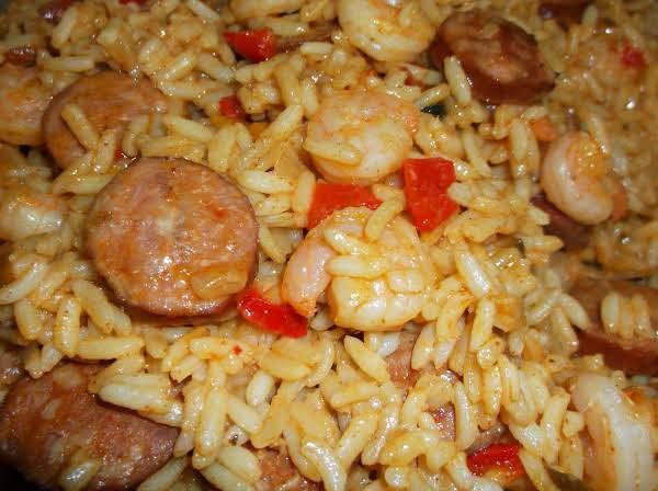 Super Easy Shrimp & Andouille Jambalaya Recipe