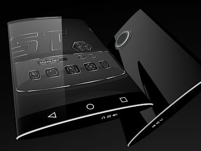 Soft Touch Black theme for Next Launcher 6