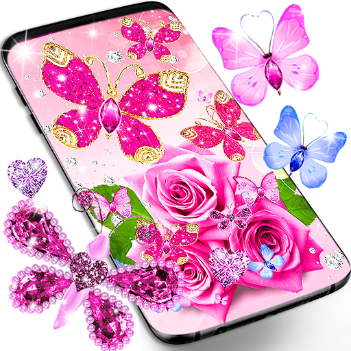 Diamond Butterfly Pink Live Wallpaper Apps On Google Play,Tapered Rectangular Lamp Shades Uk