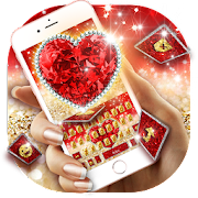 App Golden Red Luxury Heart Keyboard Theme APK for Windows Phone