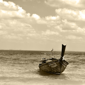 Seascape by Kunal Kumar Maurya - Landscapes Waterscapes ( sea, seascape, boat )