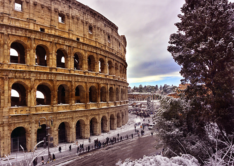Frozen morning in Rome  di Beinka