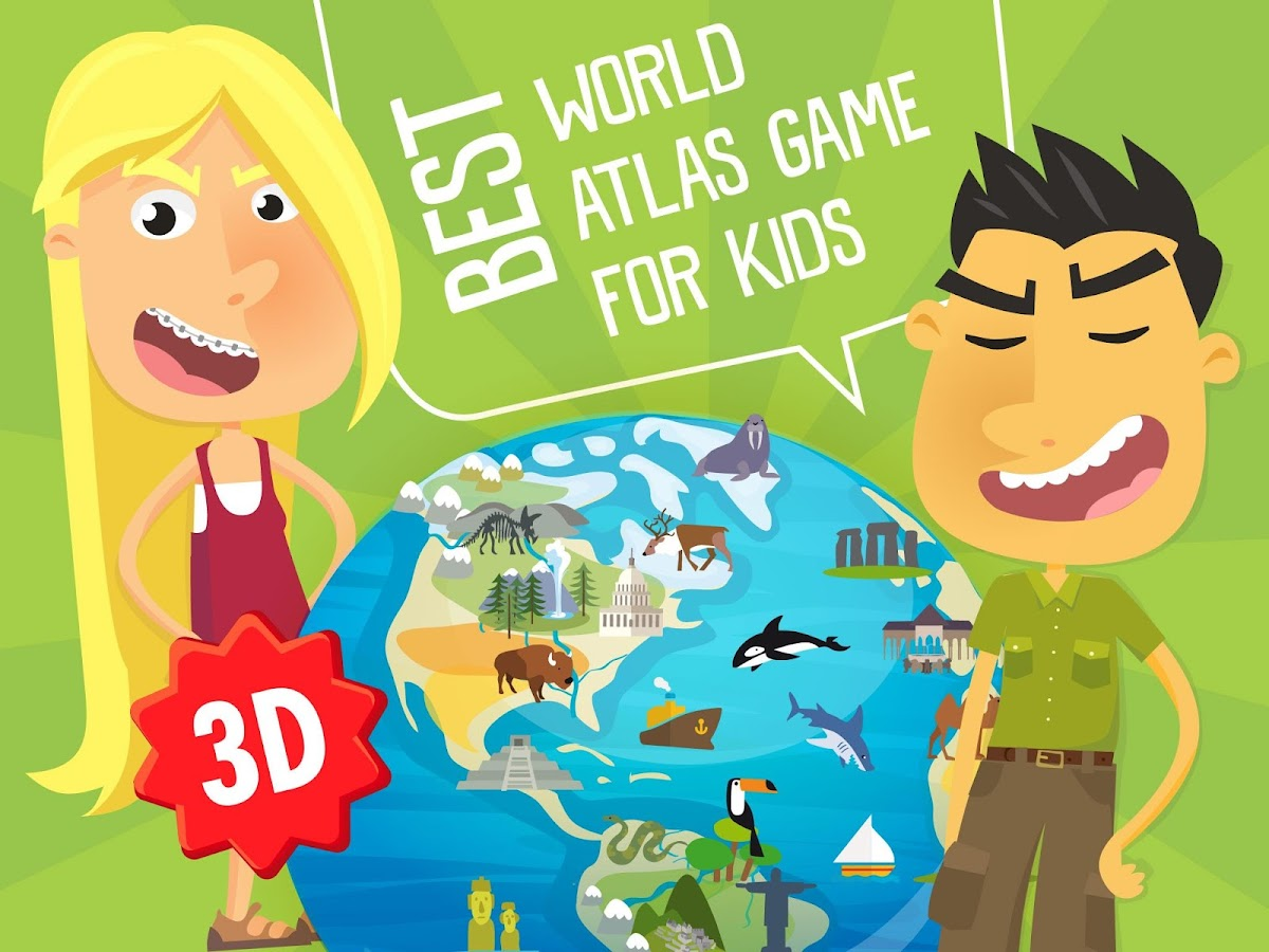 Atlas 3D game for Kids- screenshot