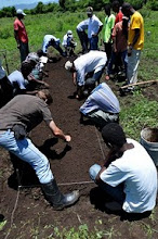 Photo: Preparation of the SRI nursery; Ferrier, Haiti, June 2010 [Photo by Erika Styger]