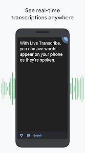 Automatische Transkription Screenshot