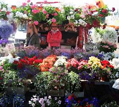 Photo: Helsinki Market flower vendor