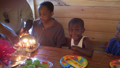 Photo: Jihad prepares to blow out his bday candles