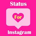 Status For Instagram 2021 (Bio Quotes) icon