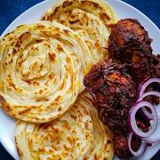 Parotta with Chicken Korma
