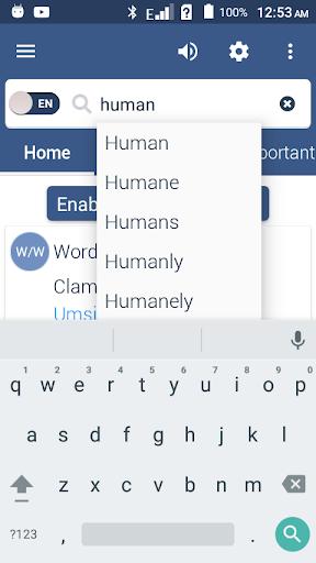 English To Zulu Dictionary screenshot