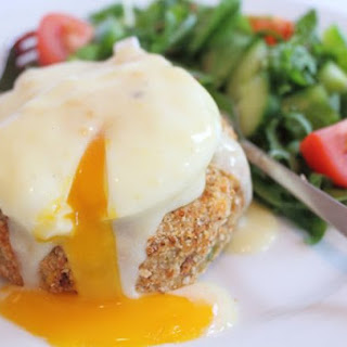 Smoked Haddock Fishcakes with Poached Egg and Mustard Sauce Recipe