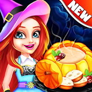 Halloween Food Shop Cooking & Restaurant Chef Game