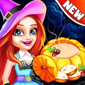 Halloween Food Shop Cooking & Restaurant Chef Game