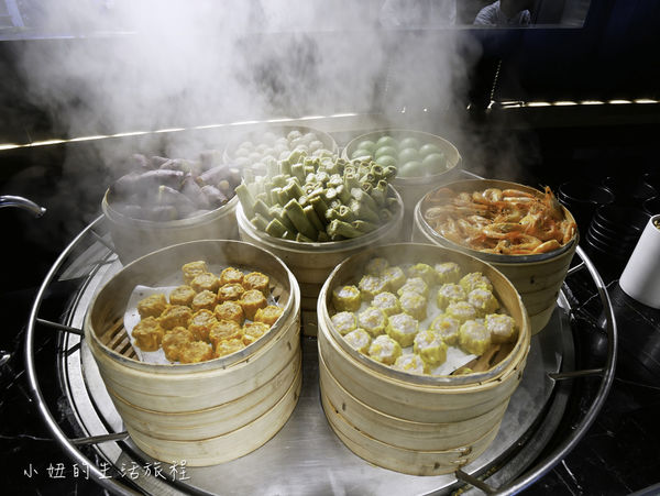 台北晶華酒店柏麗廳 午餐buffet,螃蟹,剝皮辣椒牛肉捲,鮟鱇魚湯吃到飽