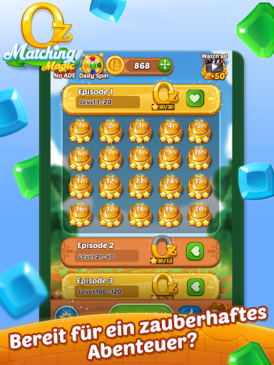 Matching Magic: Oz - Match 3 Jewel Puzzle Games screenshot 22