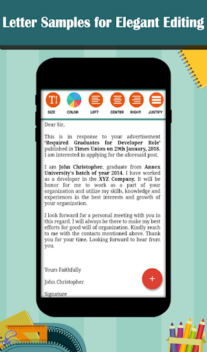 Letter Templates - Offline Cover Letter Template 1.0 screenshots 5