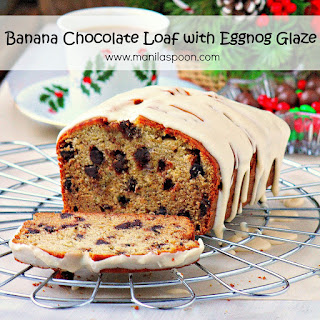 Banana Eggnog and Chocolate Loaf Cake.