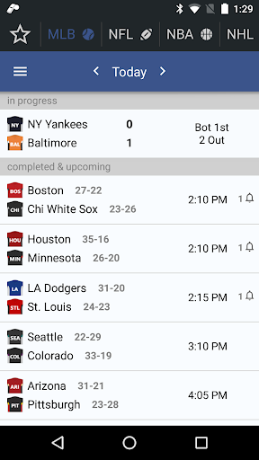 sports alerts - real-time scores, stats & odds screenshot 1