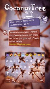 Coconuts Sky KK Emoji Keyboard - náhled