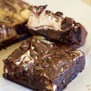 Double Chocolate Peanut Butter Cheesecake Brownies.