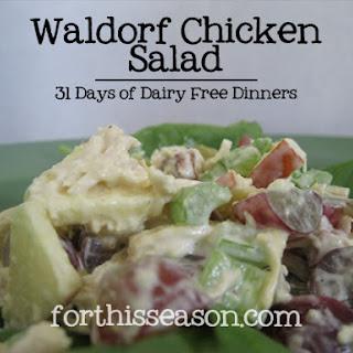 Waldorf Chicken Salad (Dairy Free Recipe)