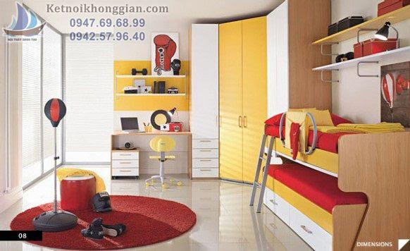 thiết kế phòng ngủ cho bé phù hợp phong thủy nhà