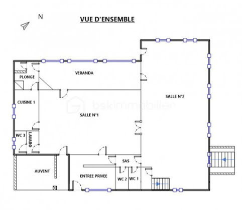 Vente maison 3 pièces 334 m2