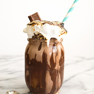 S'mores Milkshake with Bourbon Vanilla Marshmallows
