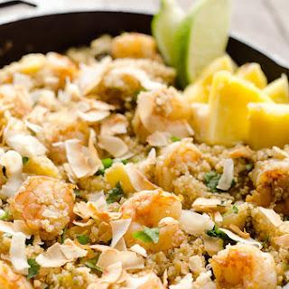Light Coconut Shrimp & Pineapple Quinoa Skillet Recipe