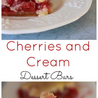 Cherries and Cream Dessert Bars