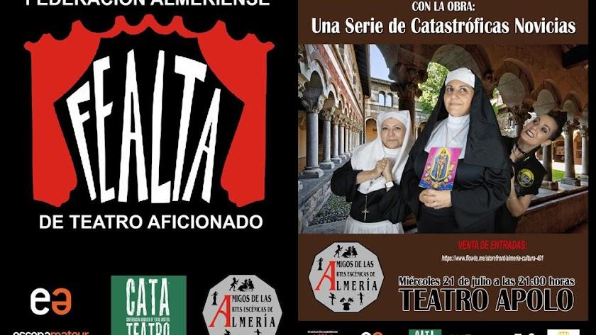El cartel de la obra que se representa en el Teatro Apolo.