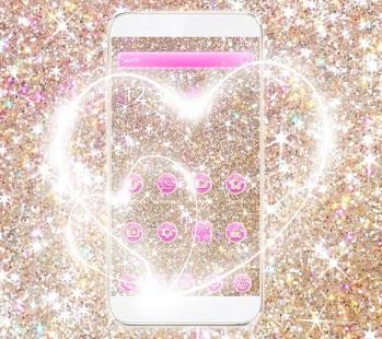 Sparkle Heart Theme Wallpaper - náhled