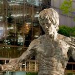 statue of Bruce Lee in Kowloon in Hong Kong, , Hong Kong SAR
