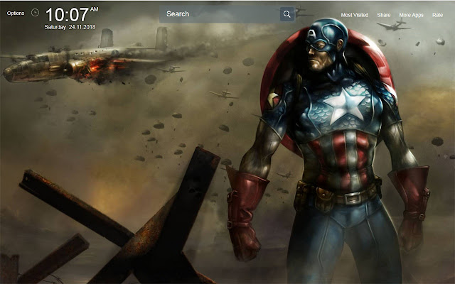 Captain America Wallpapers Theme New Tab