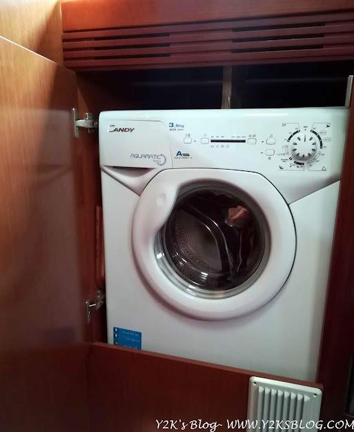 La lavatrice che abbiamo installato a Tahiti