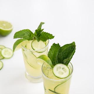Sparkling Cucumber Mint Gin.
