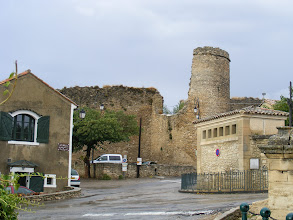 Photo: Here the remains of the fortifications on the upper side of town, including one of the Saracen towers.