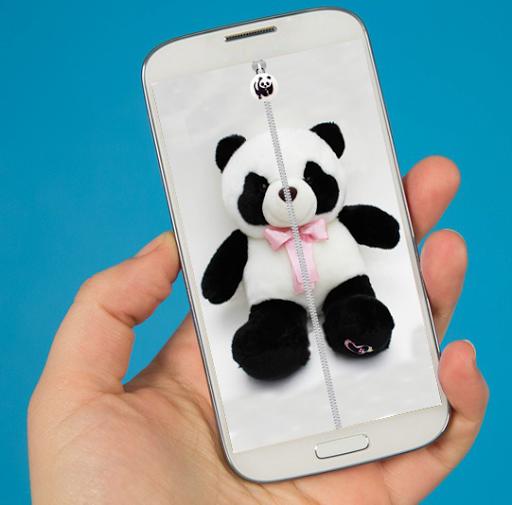 Panda Zipper Screen Lock