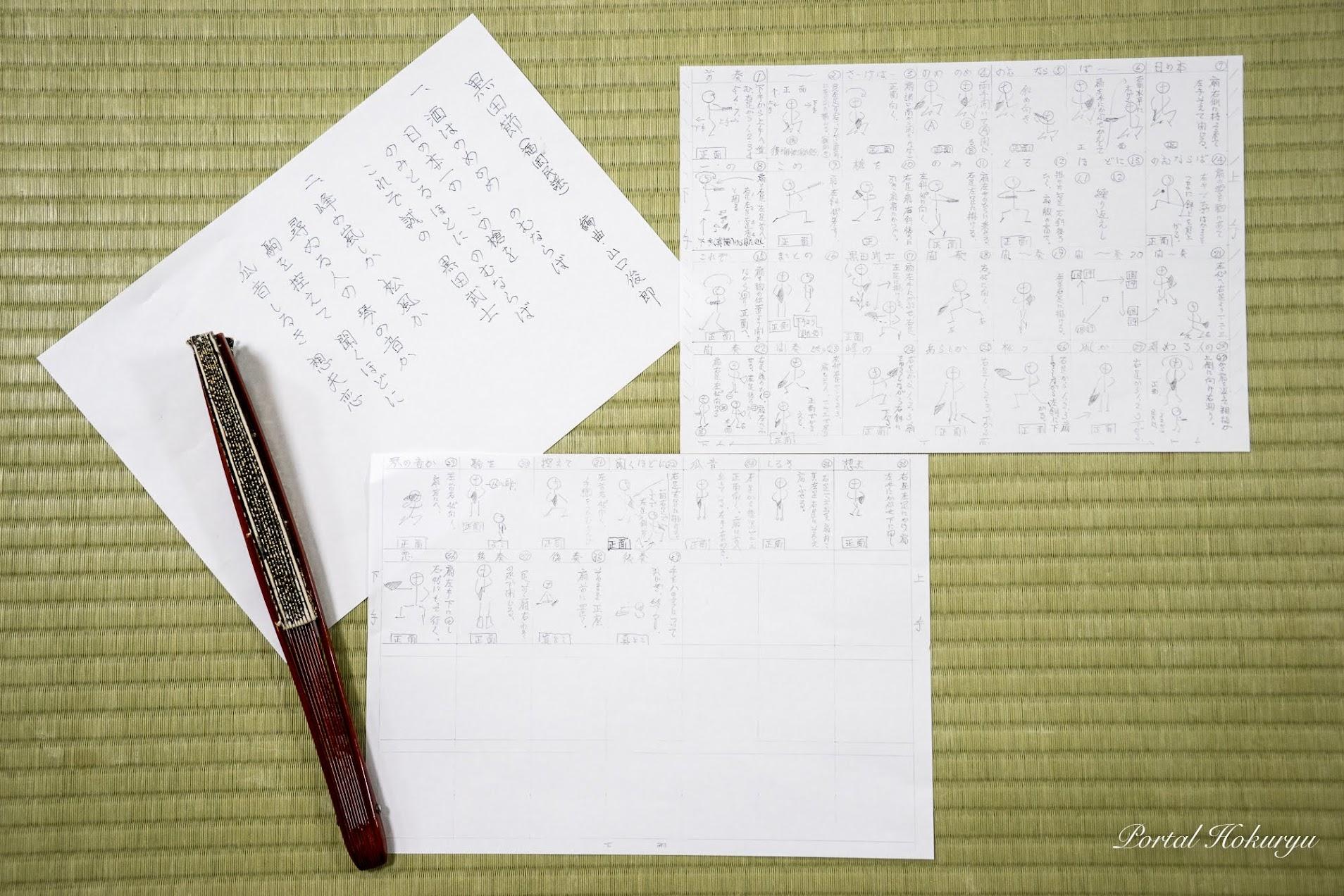 吉田徳桜代表の手作り資料