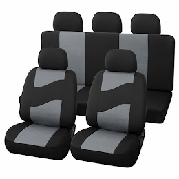 Set huse scaune auto Rider 11 bucati, negru cu gri