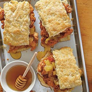 Fried Chicken Thighs & Biscuits.