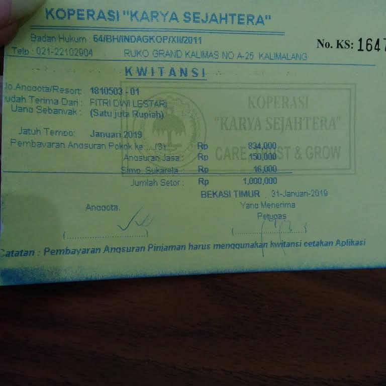 Pinjaman Uang Ksp Karya Sejahtera Koperasi Simpan Pinjam