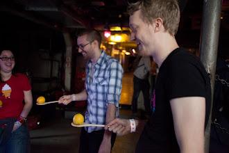 Photo: Lemon jousting