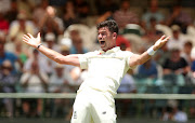 England's James Anderson celebrates a wicket before the decision is overturned on day five of the second test against SA in Cape Town on January 7 2020.