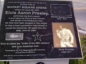 Photo: Elvis Presley's last concert, Athenaeum walk, Indianapolis IN